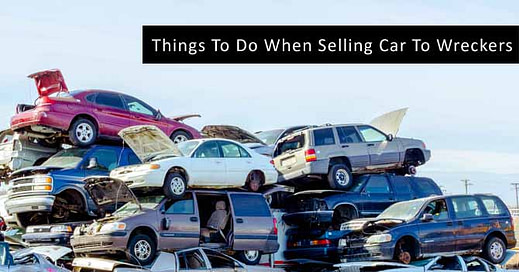 Selling Car To Wreckers